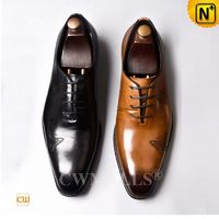Men Leather Shoes | CWMALLS® Miami Laser Leather Dress Oxfords CW719018 [Global Free Shipping]