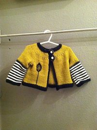 Green Zebra Baby Sweater