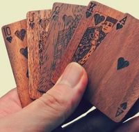 Wooden Deck Of Cards | Unique Gifts For Men - DIY if you have access to a LASER cutter and some wood stain