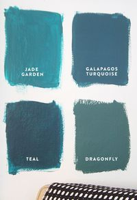 4 Shades of Blue from Benjamin Moore.