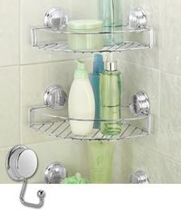 Save shower space with this easy to install tower of baskets! #Solutions