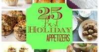 [tps header] 25 Best Holiday Appetizers �€˜Tis the season�€�for parties of all kinds. Office, church, bookclub, friends�€�everyone loves to throw holiday parties! And