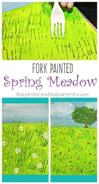 I love painting with my little girl. We love exploring different techniques, canvases and tools to paint with. Forks are a great painting tool and we were just