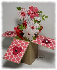 Stampin' Up! Valentine by The Serene Stamper: Card in a Box Valentine | See more about valentines, boxes and cards.