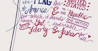 Pledge of Allegiance free 4th of July printable!