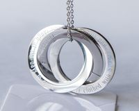 Personalized Scripture Rings Necklace, Custom $29.27