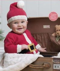 Santa baby-baby's first Christmas outfit