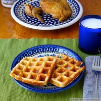 Overnight Yeasted Carrot Waffles
