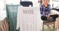 Check out this detailed, step by step tutorial for making iron-on letters to make your own diy bride robes, you can make them for the entire bridal party!