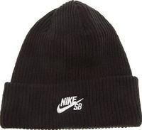 Nike SB Black Fisherman Beanie Caps And Hats If youre going to have a hat perched on your head make sure its the Nike SB Fisherman Beanie. Arriving for A/W, this stylish fold-up hat is constructed of black knitted fabric for a cosy wear, along w http://ww...
