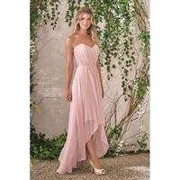 Style B193006 by Jasmine B2 - Chiffon Lace High-Low Sweetheart Strapless High-Low Jasmine B2 - Bridesmaid Dress Online Shop