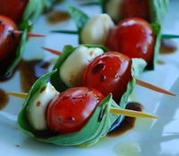 A nice wrap of basil in these Caprese Skewers