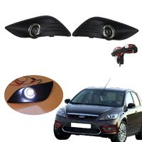 Front Bumper Grill with Convex LED Daytime Running Lights Angel Eyes for Ford Focus 2009-2011 $51.00