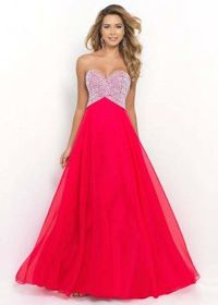 Fashion Bodice Covered In Sequins Cerise Formal Dresses