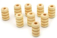 50 x Pine Natural Colour Coil Wood Beads. 13mm length Tubes with 2.5mm Hole. 7mm Diameter. Spacers. Jewellery Making, Wood Arts and Crafts £5.09