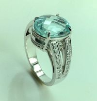 GIA Certified 6,22 carat Paraiba tourmaline ring , and diamonds, price cut to wholesale price! < #jewelry #oneofkind #specialorder #customize #honest #integrity #diamond #gold #rings #weddingband #anniversary #finejewelry #salknight