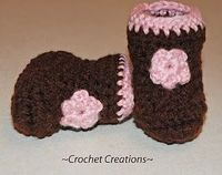 Crochet Creative Creations- Free Patterns and Instructions: baby booties
