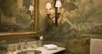 LOVE mural. Stately Weston residence, MA. SLC Interiors.