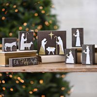Set the holiday scene in your home with the 'Natural Wood Block Nativity Scene' from our 'Woodland Wonder' collection! Highlight the season's most classic story with modern touches of style.