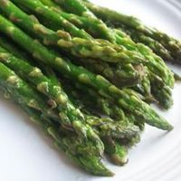 Pan-Fried Asparagus (4 1/2 stars w/ 969 reviews) - really delicious and easy to make. I sprinkled with Parmesan afterward & it added another nice flavor - 1/4 c butter, 2 T olive oil, 1 tsp salt, 1/4 tsp pepper, 3 cloves garlic, 1 lb asparagus
