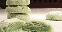 Minty cool meltaway cookies, use food coloring to adapt for different holidays!