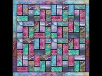 Batik Stained Glass Quilt Pattern Video