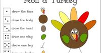 Roll a Turkey Dice & Picture Game