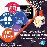 Get Top Quality Of Decals Printing With 15% Halloween Discount Offer
