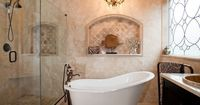 Browse amazing ideas from HGTV fans and bloggers to redecorate your bathroom on a budget.