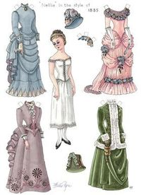 Beautiful historic paper dolls you can print for FREE #printable #paperdolls #free