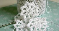 crocheted snowflake tutorial - I might be able to make these : )