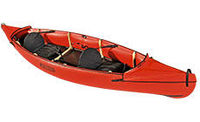 light weight two seater folding canoe, comfort, ease of transport and storage on rivers, lagoons, flat water..