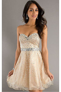 Admirable Short Organza Dropped Sleeveless Sweetheart Cocktail Dresses