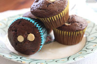 Cocoa Banana Chocolate Chip Muffins