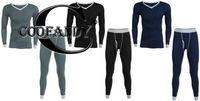 Sleeve Sleepwear V-Neck Long Men Top & Pants Patchwork Pajama Set $44.86