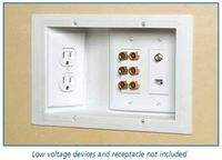note to self .. when building a house use recessed outlets so the furniture can fit flat against the wall and there are no messy cords ... genius!! - Click image to find more Home Decor Pinterest pins