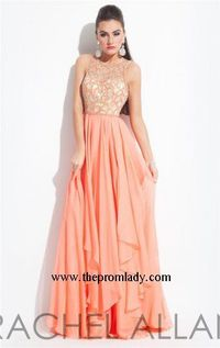 Nice Beaded Long Rachel Allan 6922 Prom Dresses for Cheap