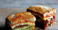 caprese grilled cheese with proscuitto