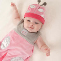 "When cuteness, comfort and coziness count, this leaf-loving ladybug always comes through! Your new little lady will sleep safe and sound in our ""Snug as a Bug"" Snuggle Sack, and she'll look adorable doing it! Just another beautiful Baby As..."