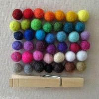 1cm Wool Felt Balls - Choose your assortment