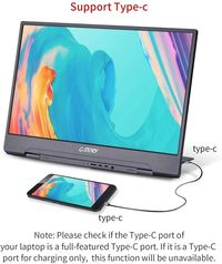 G-STORY GST156 165Hz 144Hz 1ms FHD 1080P Type C Portable Computer Monitor Gaming Display Screen for Smartphone Tablet Laptop Game Consoles