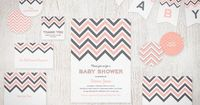 We just added party circles and text banners to our Free Printable Chevron Invitation Suite!