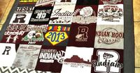 The Autocrat: T-Shirt Quilt, use all those old vacation souvenir shirts.