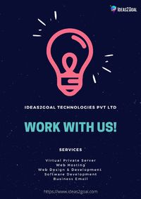 Ideas2Goal is one stop solution of all your online needs. I2G's provide web hosting, web development, and design, software development to complete online marketing services for business.