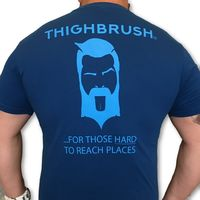 THIGHBRUSH® - For Those Hard to Reach Places - Men's T-Shirt - Blue and Light Blue