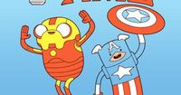 Adventure Time .... Iron Jake & Captain Finn #Avengers