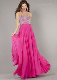Fuchsia Long Sequins Top Jovani 3740 Prom Dresses