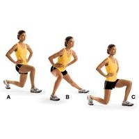 Learn how to do clock lunges to tone your legs