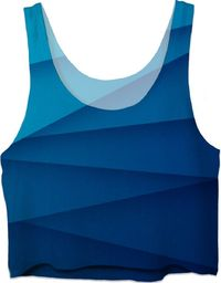 ROCT Blue Diagonal Women's Crop Top $37.00