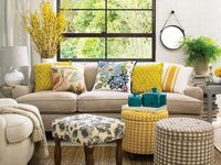 Warm and natural yellow living room from Target